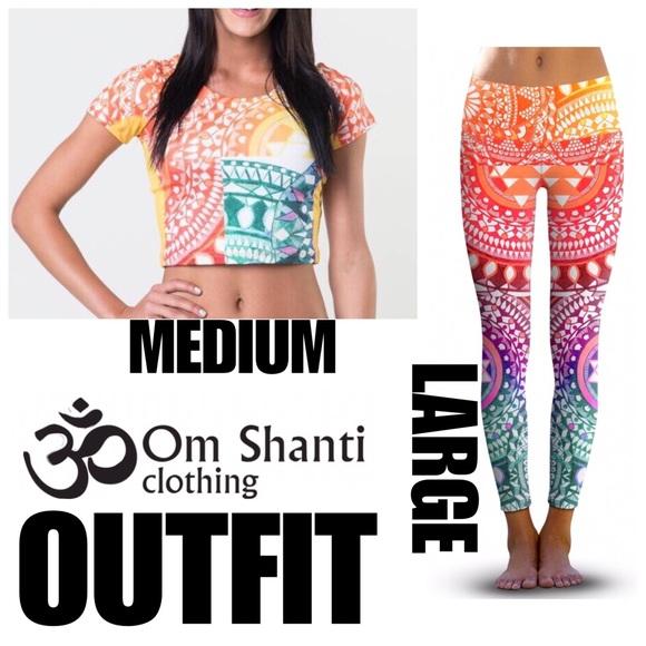 f8863bf28c32a Om Shanti Pants   Yoga Active Outfit   Poshmark